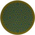 rug #918125 | round green geometry rug