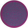 rug #918129 | round blue-green borders rug
