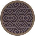 rug #918153 | round beige borders rug