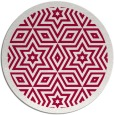 rug #918165 | round red graphic rug
