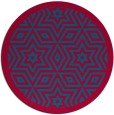 rug #918169 | round blue-green geometry rug