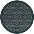rug #918177 | round blue-green geometry rug
