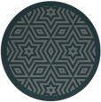 rug #918177 | round green popular rug