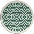 rug #918181 | round blue-green graphic rug
