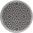 rug #918257 | round red-orange borders rug