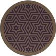 rug #918285   round purple borders rug