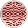 rug #918293 | round red graphic rug