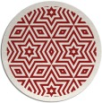rug #918301 | round red graphic rug