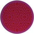rug #918305 | round red borders rug