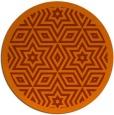 rug #918309 | round red-orange borders rug