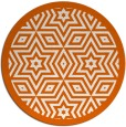 rug #918321 | round red-orange borders rug