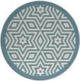rug #918341   round blue-green graphic rug