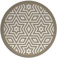 rug #918345 | round beige graphic rug