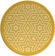rug #918349 | round yellow graphic rug