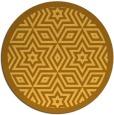 rug #918365 | round light-orange borders rug