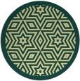 rug #918369 | round yellow borders rug