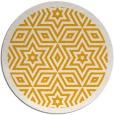 rug #918389 | round light-orange borders rug