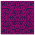 rug #920601 | square blue damask rug