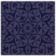 rug #920653 | square blue-violet damask rug