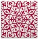 rug #920685 | square red damask rug