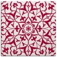 rug #920685 | square red traditional rug