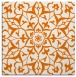 rug #920769 | square orange damask rug