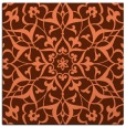 rug #920777 | square red-orange damask rug