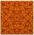 rug #920829 | square red-orange traditional rug