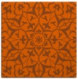 rug #920837 | square red-orange traditional rug