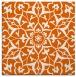 rug #920841 | square red-orange damask rug