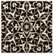 rug #920877   square brown damask rug