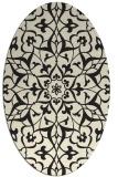 rug #920949   oval black rug