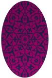 rug #920961   oval pink damask rug