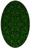rug #920985 | oval green traditional rug