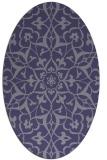 rug #921017   oval blue-violet damask rug