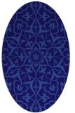 rug #921029 | oval blue-violet rug