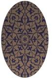 rug #921033 | oval beige traditional rug