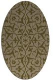 rug #921041 | oval brown rug