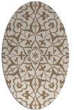 rug #921077 | oval beige damask rug