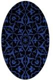rug #921097 | oval black traditional rug