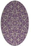 rug #921109   oval purple traditional rug