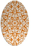 rug #921129 | oval orange damask rug