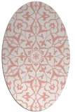 rug #921153 | oval white damask rug
