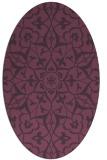 rug #921157   oval purple traditional rug