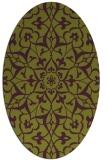 rug #921161 | oval purple damask rug