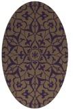 rug #921165 | oval purple traditional rug