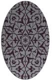 rug #921169 | oval purple damask rug