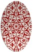 rug #921173 | oval red traditional rug
