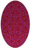 rug #921185 | oval red damask rug
