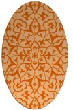 rug #921193 | oval red-orange damask rug
